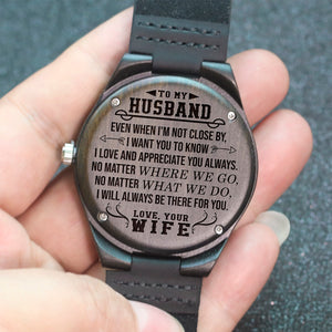 To My Husband - Wood Watch - NLW04