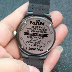 To My Man - Wood Watch - NLW08