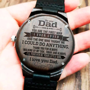To My Dad - Wood Watch - NLW03