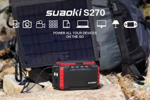 SUAOKI outdoor photohraphy with portable power supply