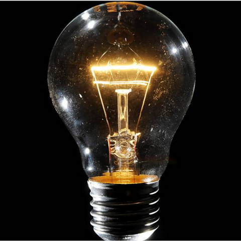 A 60-watt light bulb
