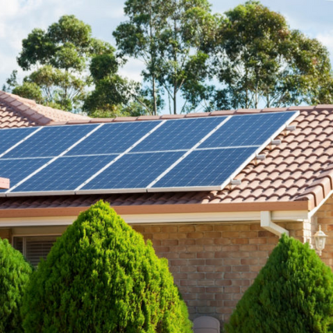 Household solar power system