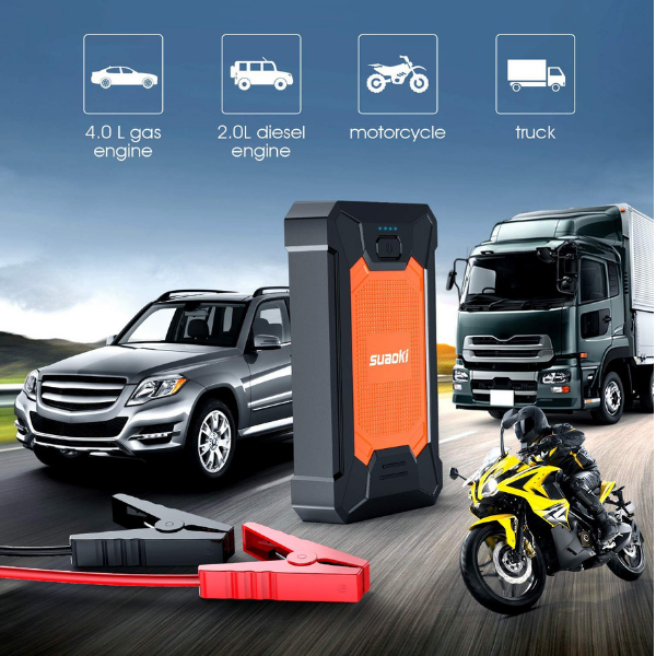 SUAOKI Portable Jump Starter Uses