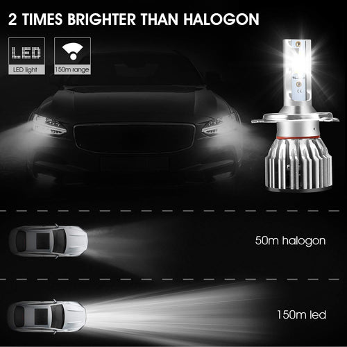 H4 HB2 9003 Led Headlight Bulbs
