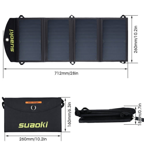 25W Portable Foldable Solar Panel Charger