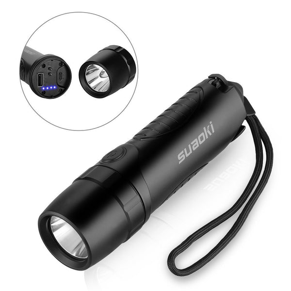 4-in-1 Cree LED 5200mAh Rechargeable Flashlight