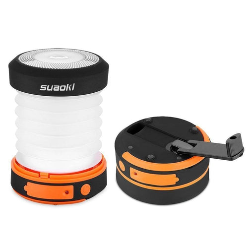 LED Camping Lantern (Powered By Hand Crank and USB Charging)