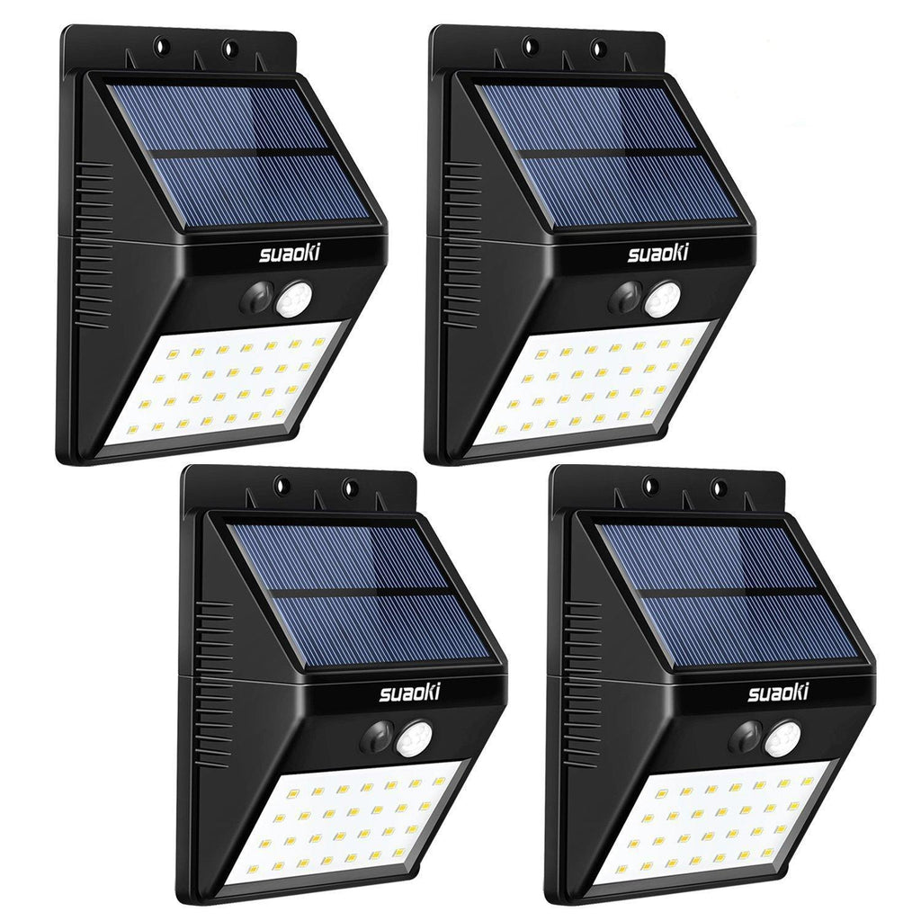 28 led solar motion sensor outdoor lights pack of 4 suaoki motion sensor outdoor lights pack of 4 28 aloadofball Choice Image