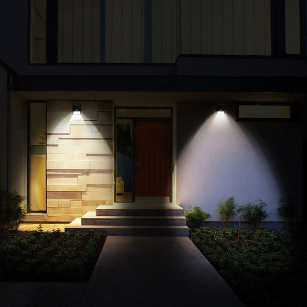Solar Outdoor Wall Lights (4pcs) with Motion Sensors