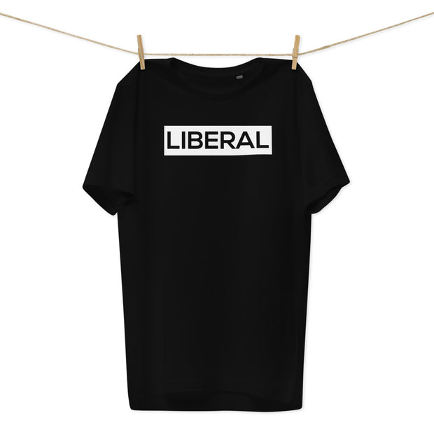 LIBERAL - MEN'S BLACK ORGANIC COTTON T-SHIRT1