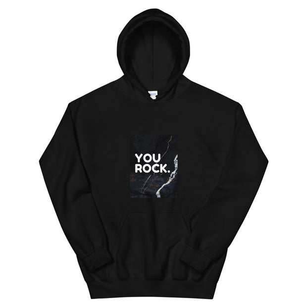You Rock -  Stylish Men's Black Hoodie