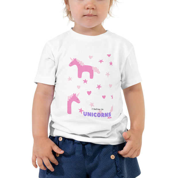 I Believe in Unicorns - Toddler Short Sleeve Tee