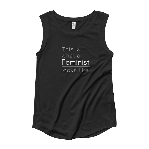 This is what a Feminist Looks Like Cap-Sleeve Tank