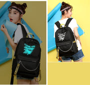 Chain Nylon Female Backpack