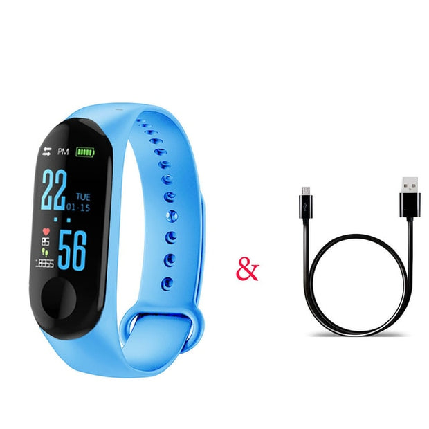 Silicone Fitness Tracker Smartwatch