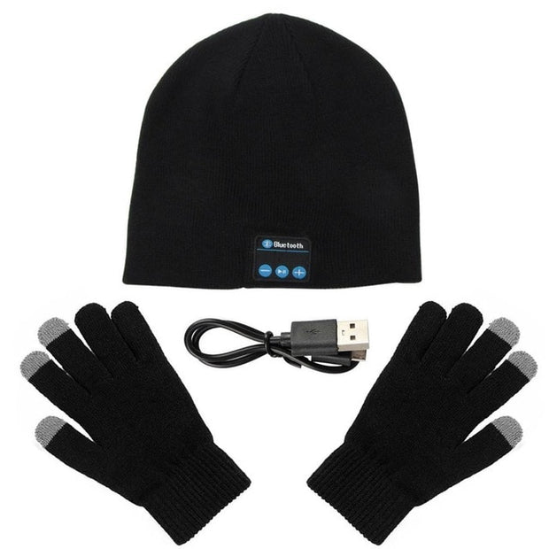 Winter Warm Music Cap With Gloves