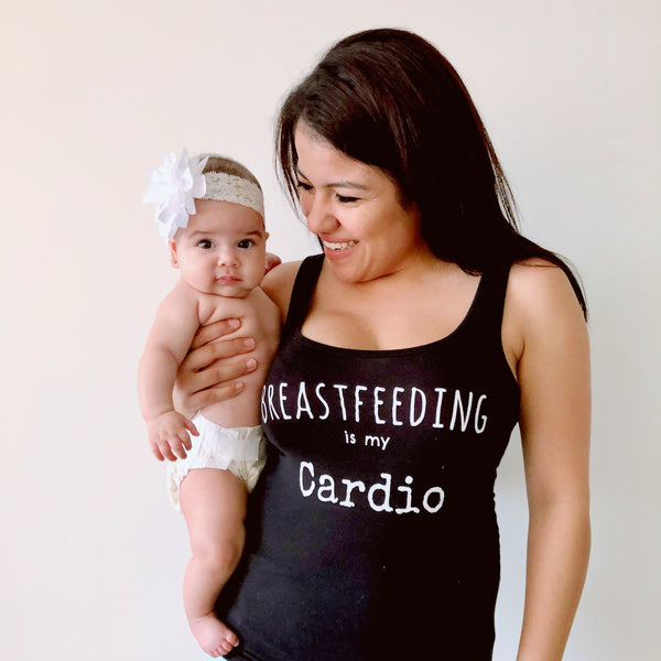 Breastfeeding is my cardio tank top shirt