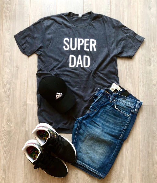 Super Dad Tee (Charcoal Grey)