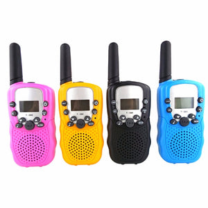 UHF Two Way Radio Portable Handheld Children's Walkie Talkie with Built-in Led torch Mini Toy Gifts for Kids Boy Girls