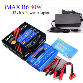 Builld-power Battery Lipro Balance Charger iMAX B6 charger Lipro Digital Balance Charger 12v 6A Power Adapter + Charging Cables