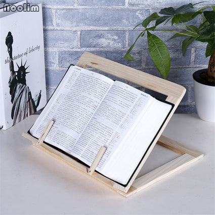 NOOLIM Multi-functional Wooden Recipe Holders Book Stand Reading Rest Rack Kitchen Cookbook Stand Holder