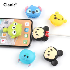 Cute Cartoon Phone USB cable protector for iphone cable chompers cord animal bite charger wire holder organizer protection