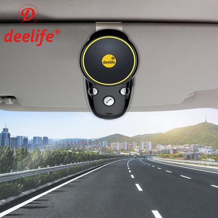 Deelife Bluetooth Handsfree Car Kit Wireless Auto Speakerphone Carkit Sun Visor Speaker for Car Phone Hands Free Adapter In-Car