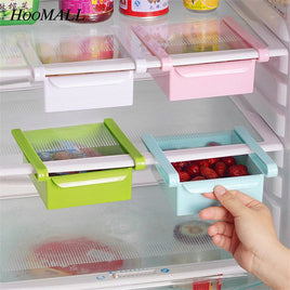 Hoomall Refrigerator Storage Box Kitchen Food Container Fresh Spacer Layer Storage Rack Pull-out Drawer Fresh Sort Organizer