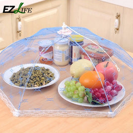 Color Random Hexagonal Dust Tent Foldable Net Yarn Food Cover Vegetable & Fruit Meal Cover Anti Mosquito Fly Cover KT0571 EZLIFE