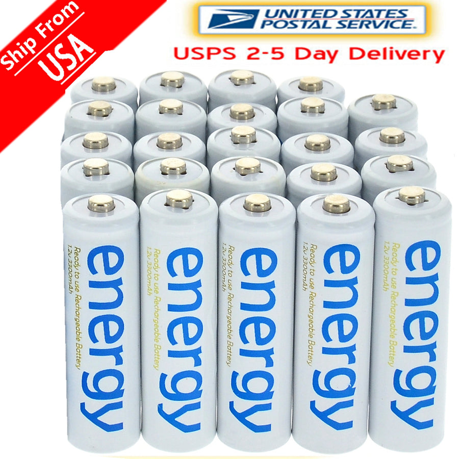 4/8/16/24/32/48/100pcs 3300mAh 1.2V Ni-Mh AA Rechargeable Battery White 2A Energy for MP3 Cell RC for led flashlight torch Toys