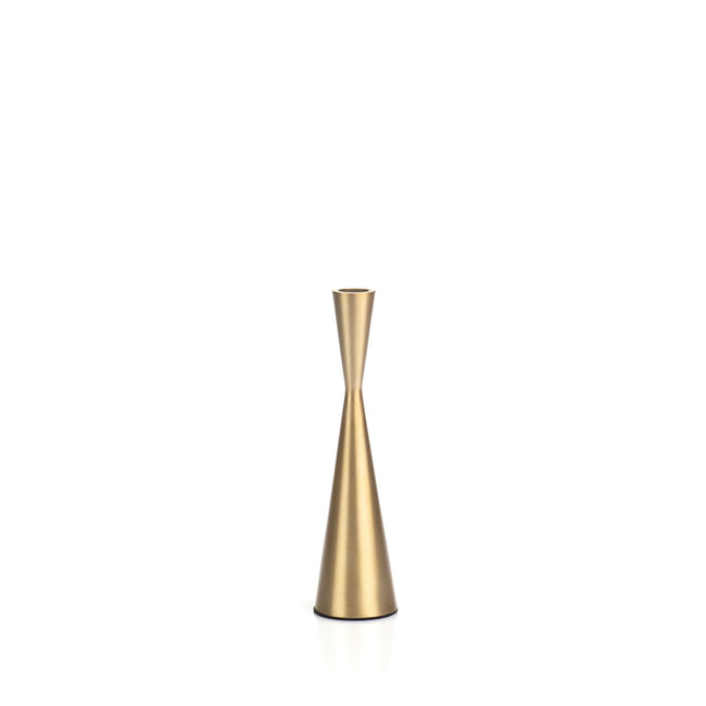 Golden Hourglass Candle Holder