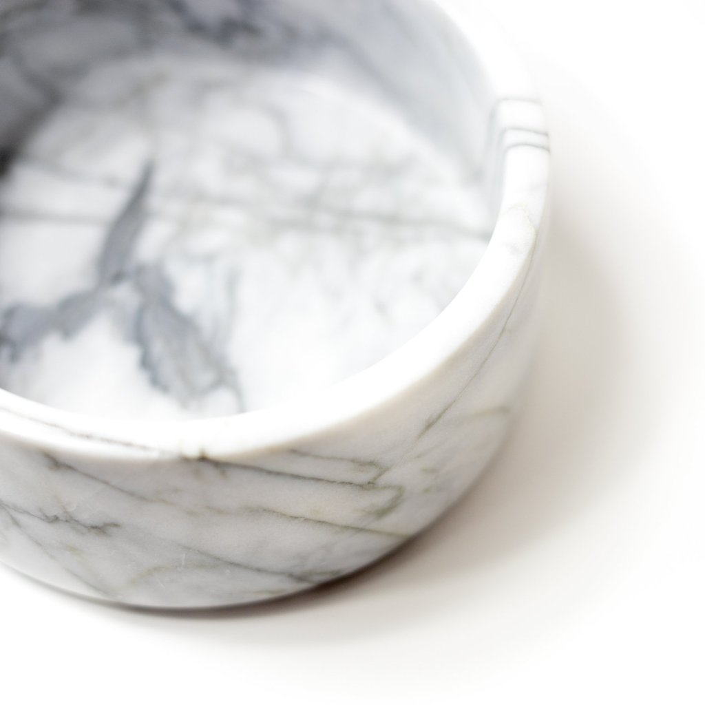 hand carved Iconic Marble planter & bowl