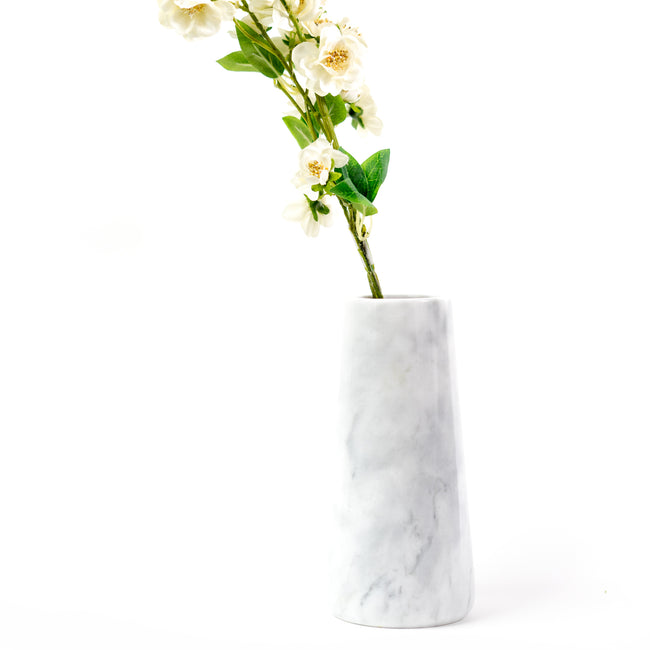 Iconic Marble Vase, 100% marble stone, handcrafted