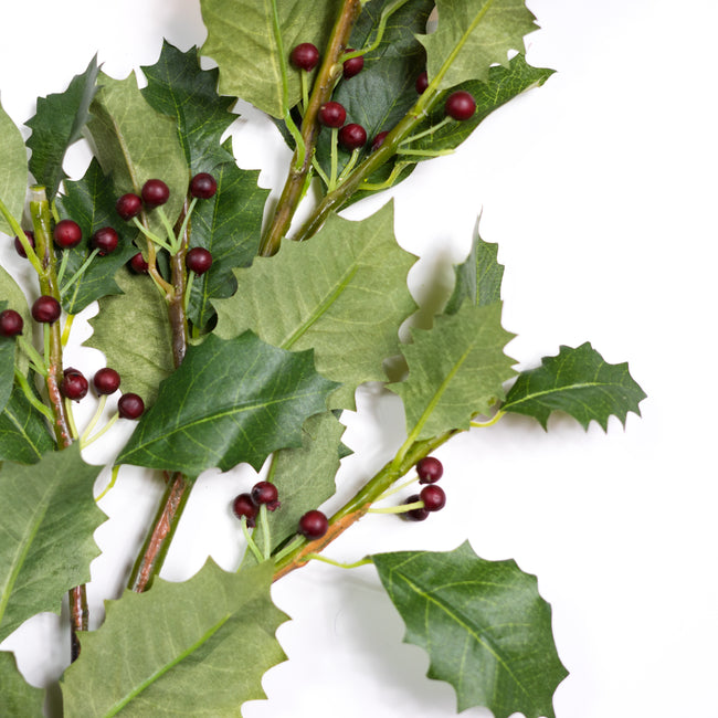 Faux Holly Berry Branch