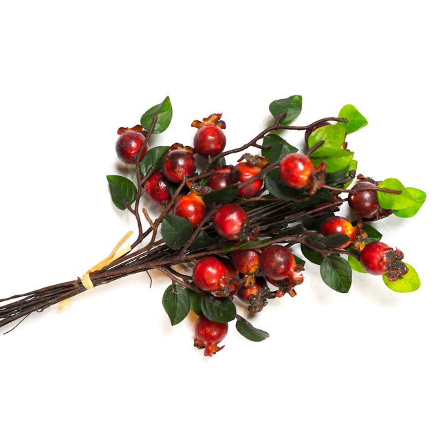 Artificial Rose Hip Branch, artificial flower