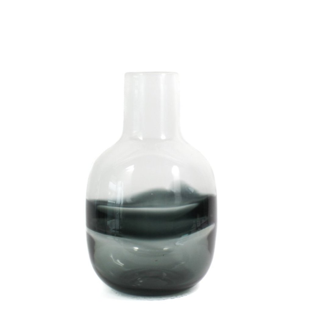 Water Ink Glass Vase, hand crafted, glass blown