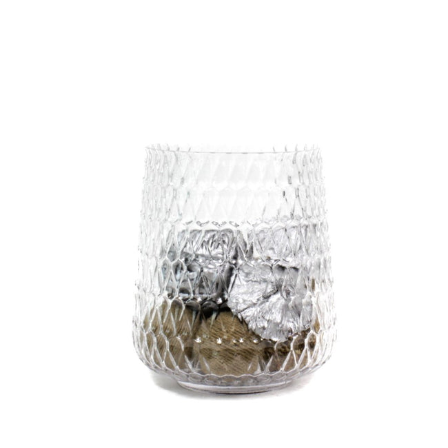 dazzling Crystal Glass Vase with a cylindrical silhouette