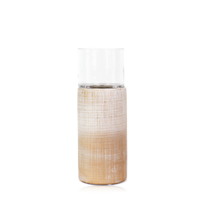 Peach colour Cylindrical Candleholder