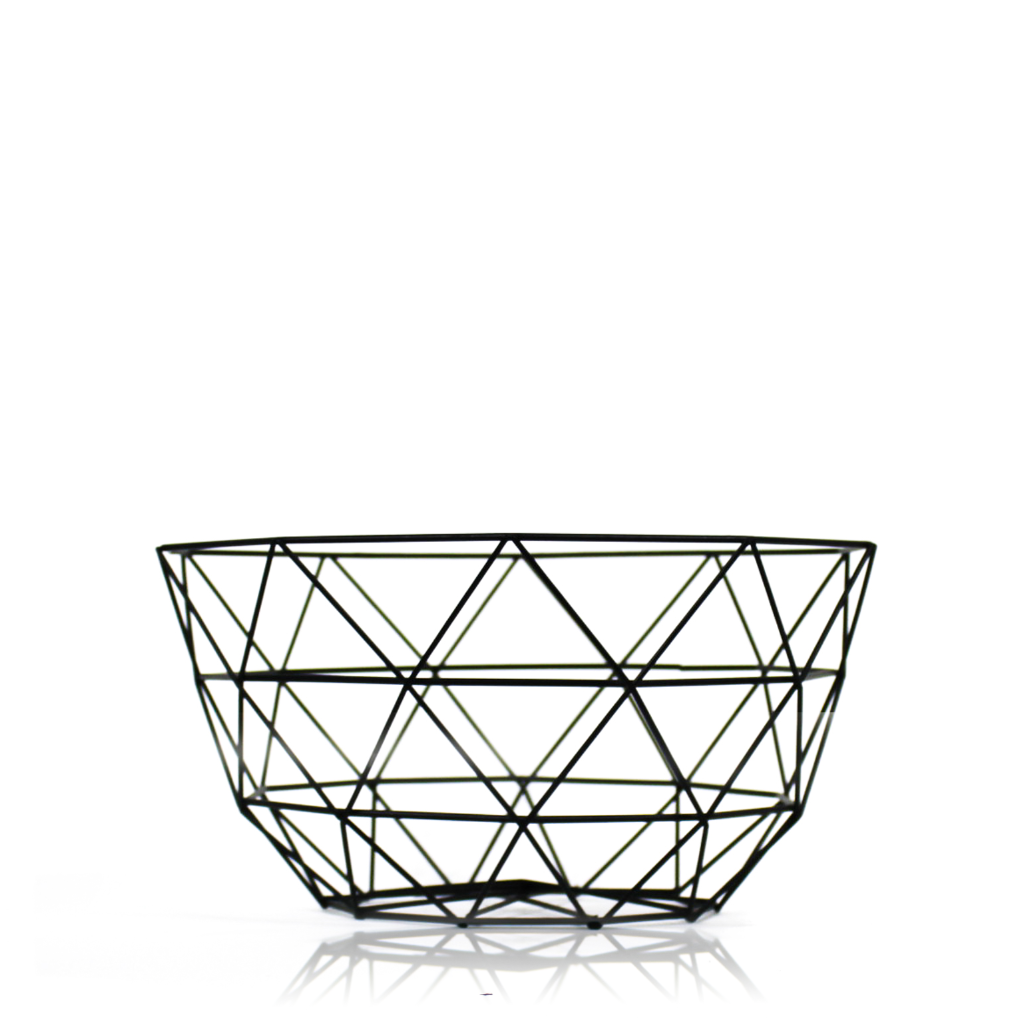 Black Wire Grid Decorative Bowl for both decorative and organizing purpose