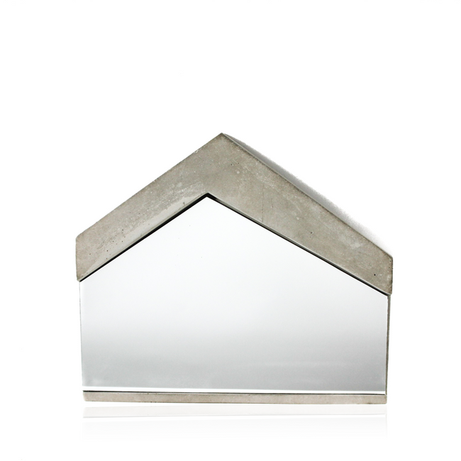 Concrete Framed Mirror, industrial and modern tone