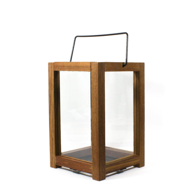 Classic Thailand teakwood lantern with metal handle  , made in Thailand