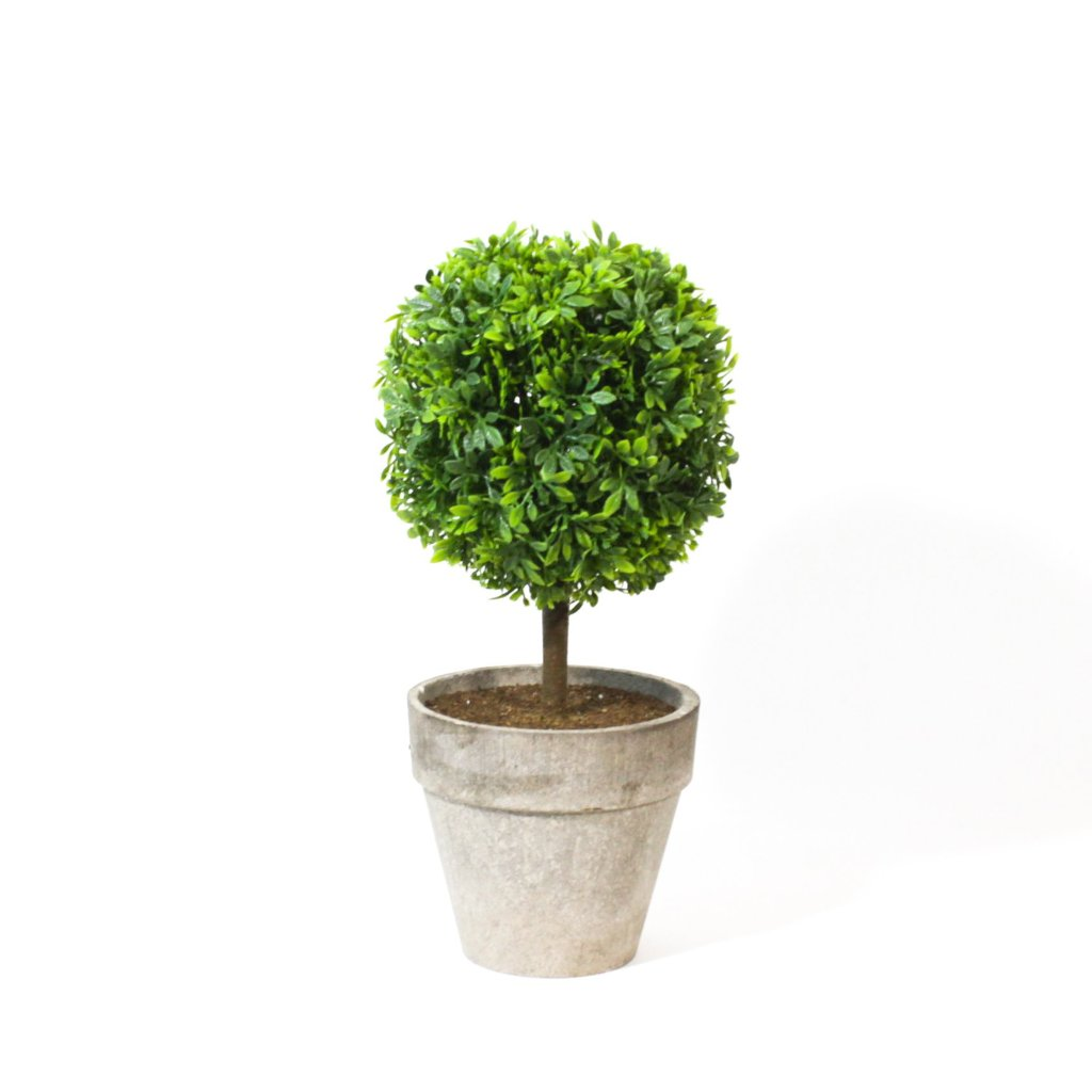 Potted Artificial Boxwood Topiary