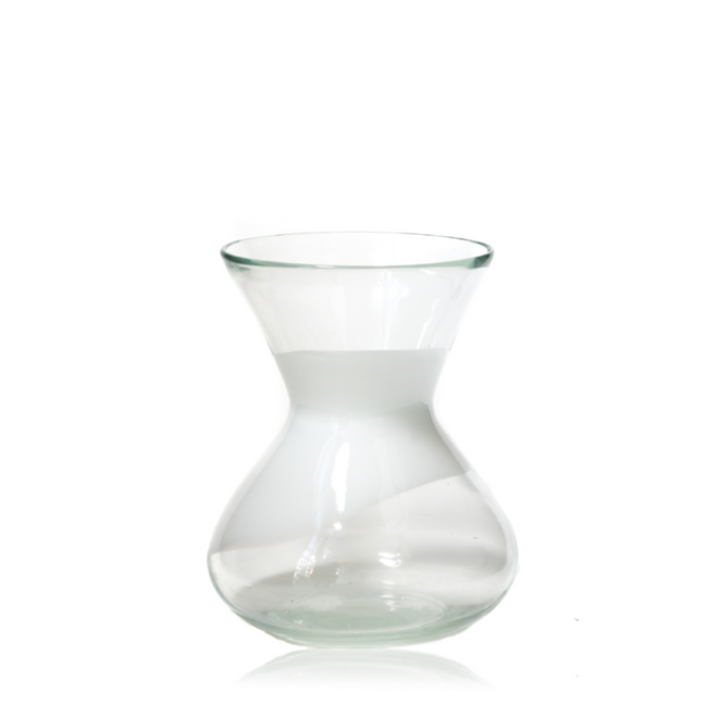 Ivory Patterned Glass Vase