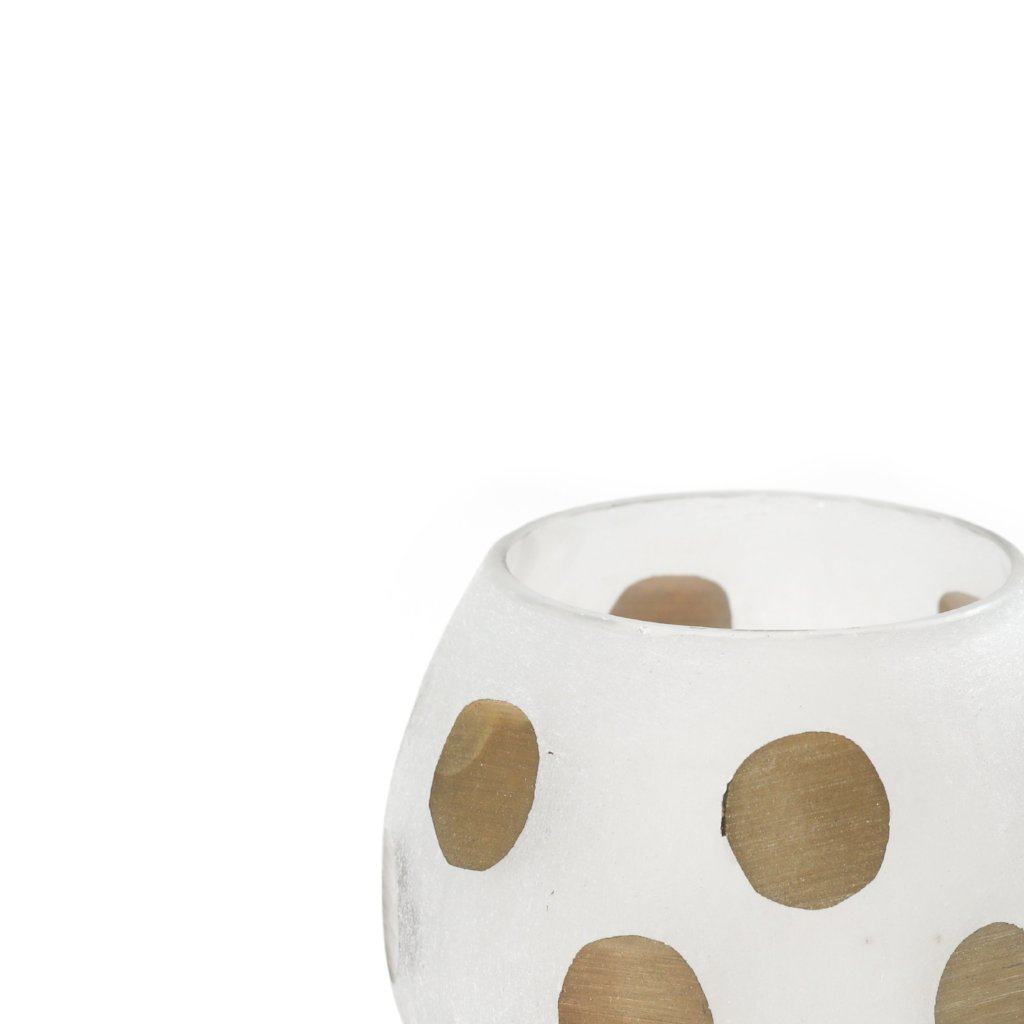 Gold Polka Dot Votive