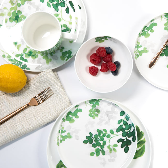 Green Foliage Gourmet Porcelain Collection