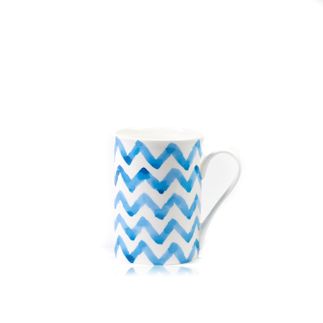 Indigo Wave Signature Porcelain Mug