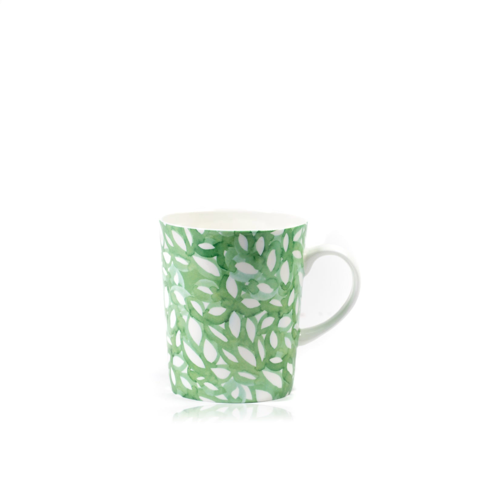 Green Foliage Signature Porcelain Mug