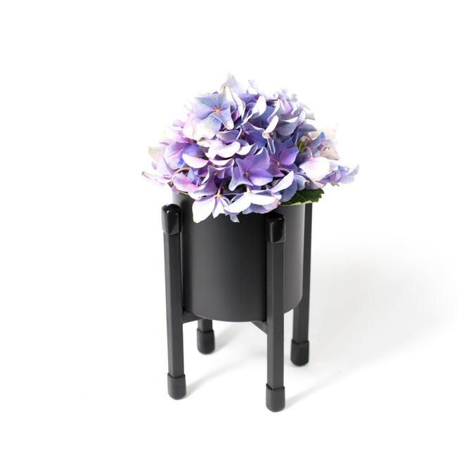 Noir Cylindrical Stand Planter