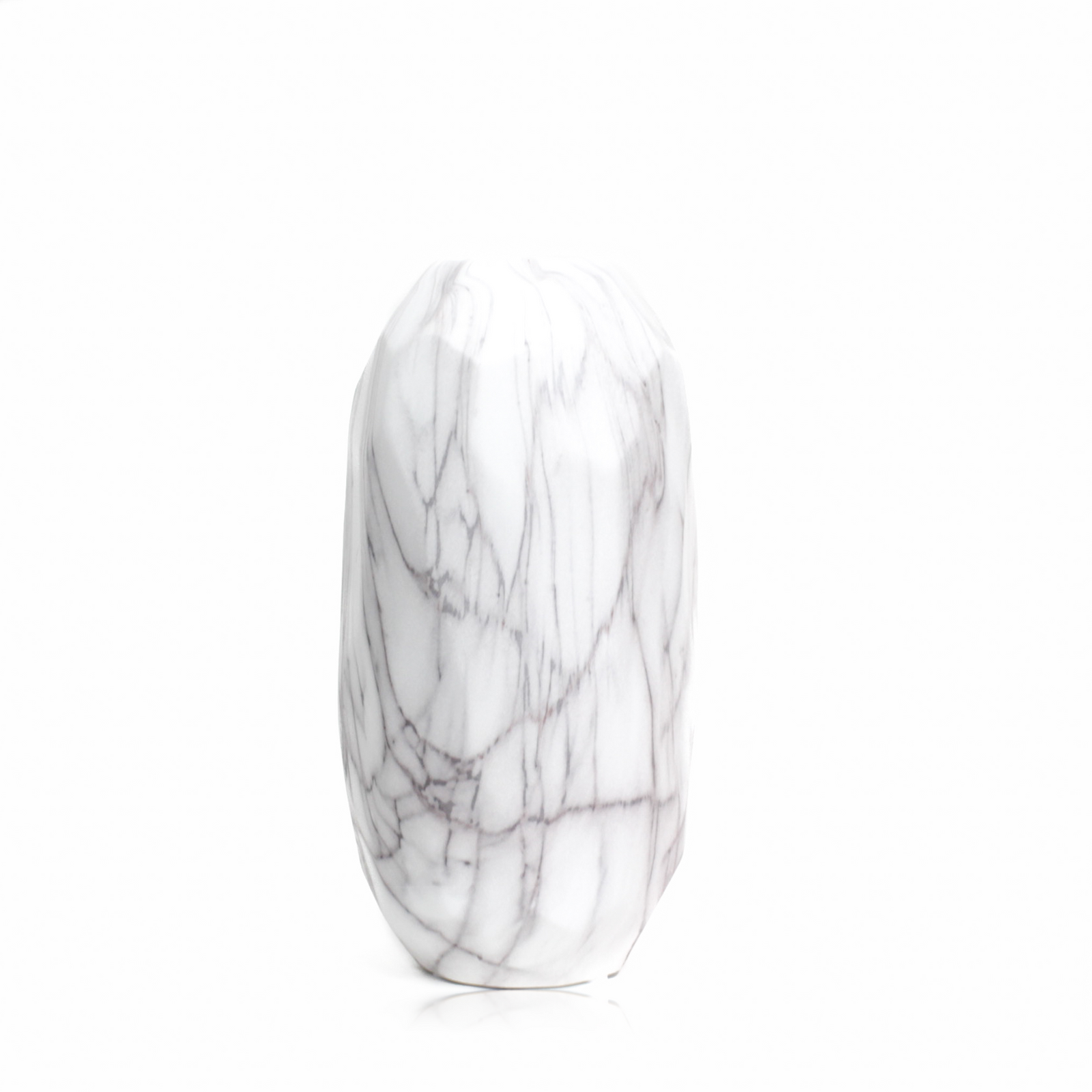 Faceted Marble Pattern Ceramic Vase with large size