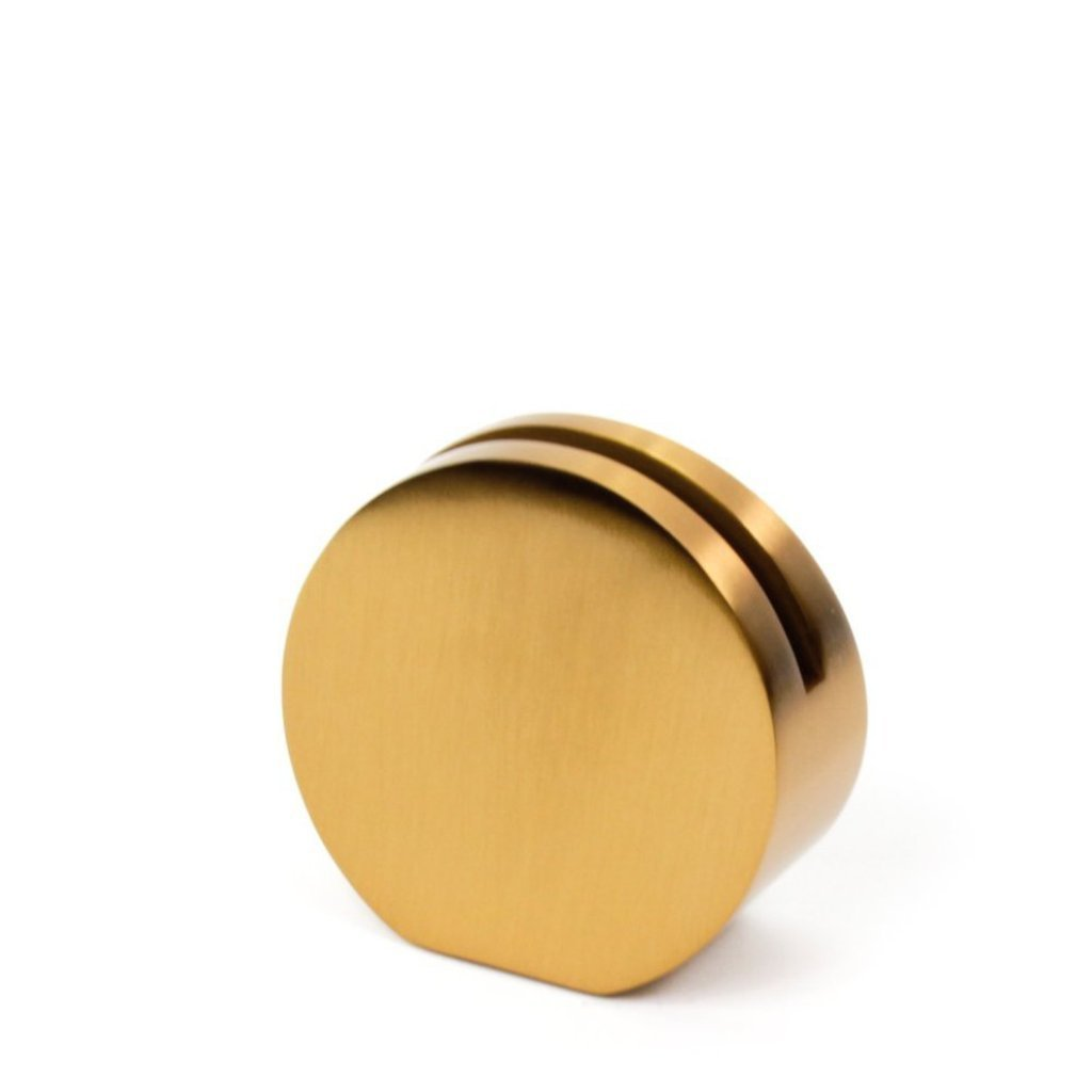 Simple and modern Gold Card Holder in round shape